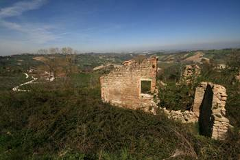 Ruin with project for sale in Cupramontana le Marche.